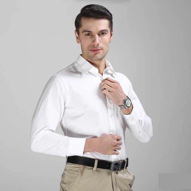 总长定制纯棉工装衬衫免烫防皱衬衫男士工作服衬衫