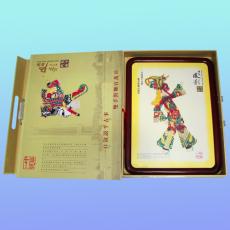 孙悟空,唐山皮影礼品传统人物,美国进口硬木圆角框子装裱挂件