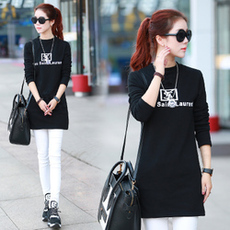 秋冬2015韩版新款中长款针织衫修身显瘦长袖套头毛衣女