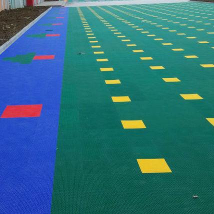 悬浮式拼装地板圆柱软质大米格地板
