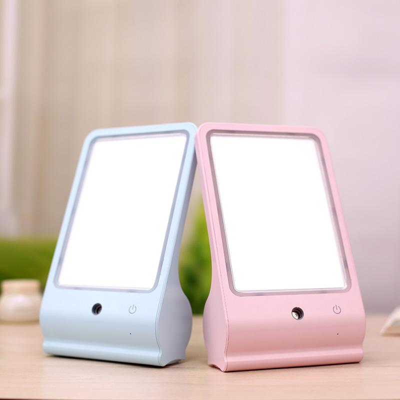 LED美容补水镜 USB化妆镜 台式补妆镜 韩国台式梳妆镜