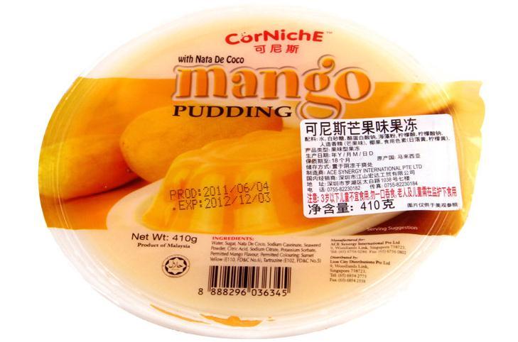 可尼斯 芒果味果冻 410g 马来西亚进口(含椰纤果) 12盒一箱
