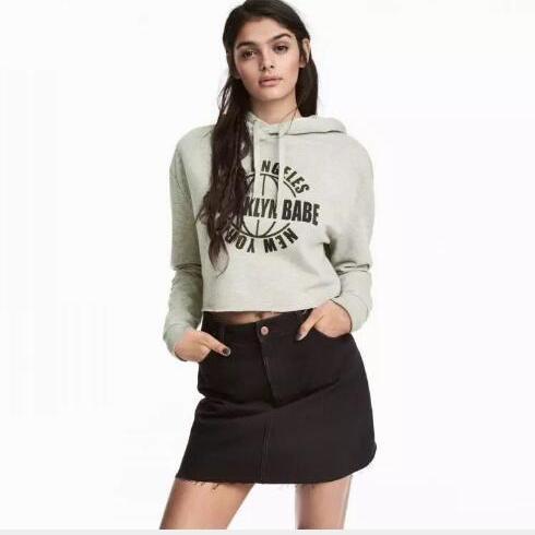 女士卫衣 2017秋季新款欧美印花连帽长袖t恤女 亚马逊爆款 卫衣