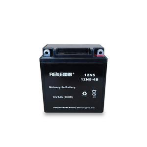 雷恩12N5-4B 摩托车蓄电池免维护铅酸蓄电瓶电池厂家直销