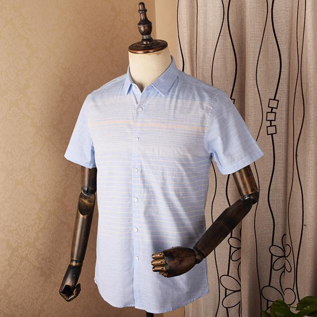 总长无锡工作服定制夏季短袖纯棉花色衬衫工作服衬衫