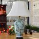 供应现代欧式复古陶瓷台灯客厅卧室书房创意中式手绘彩绘装饰台灯批发