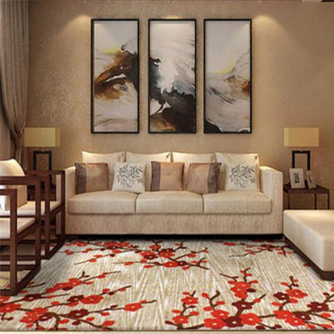 现代简约 超薄新中式客厅地毯 沙发茶几垫图片