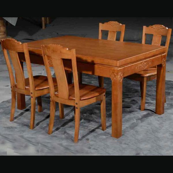 厂家直销 橡木餐桌 橡木餐桌椅组合 长方桌 供全实木餐桌