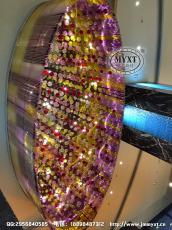 酒店大堂灯具 彩色玻璃气泡灯 东南亚酒店灯具 越南五星级酒店灯具 酒店艺术灯具定制设计