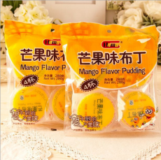 Hamu含乳布丁果冻(芒果味)果味布丁夏季热销280克4杯装24包/件