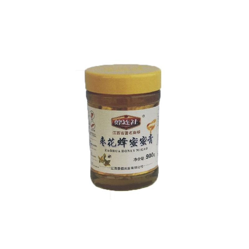 蜂连社  蜜膏系列 枣花蜂蜜900g玻璃瓶装