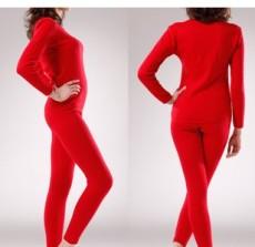 加厚加绒保暖内衣女式 纯棉羊毛绒保暖内衣套装厂家批发
