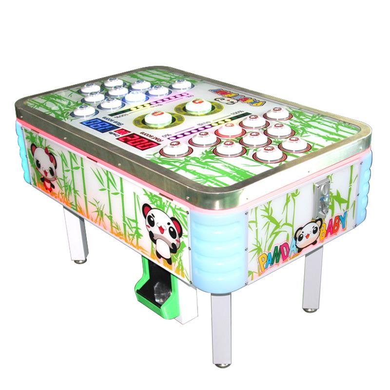 熊猫宝贝儿童乐园双人亲子对战投币游戏机打豆豆出彩票小型游戏机