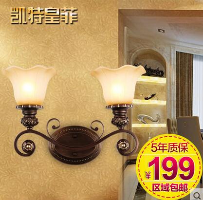 欧式壁灯床头灯卧室新古典客厅背景墙美式乡村