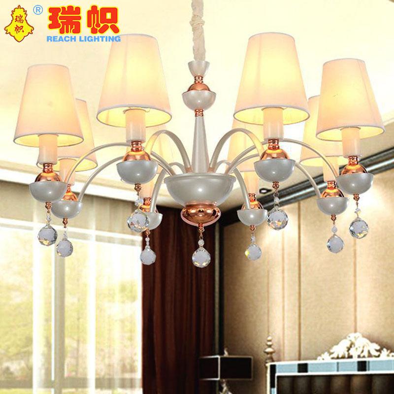 瑞帜,铁艺弯管吊灯 蜡烛水晶灯  客厅吊灯书 房餐厅灯