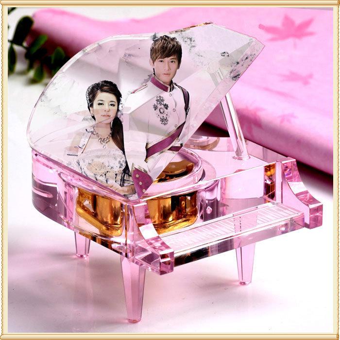 【**】特色MP3钢琴 水晶音乐钢琴 水晶小提琴 水晶钢琴 浦江水晶供应