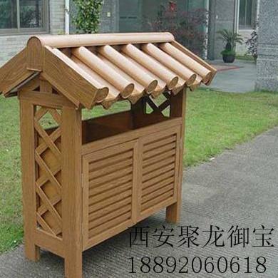 西安仿古木垃圾桶 城市木垃圾桶效果图 木垃圾桶定制厂家 批发木垃圾桶价格