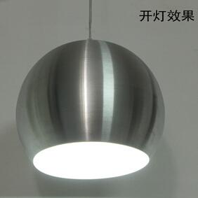 现代简约拉丝铝圆球吊灯 单头餐厅吧台发廊网吧工程灯饰灯led吊灯