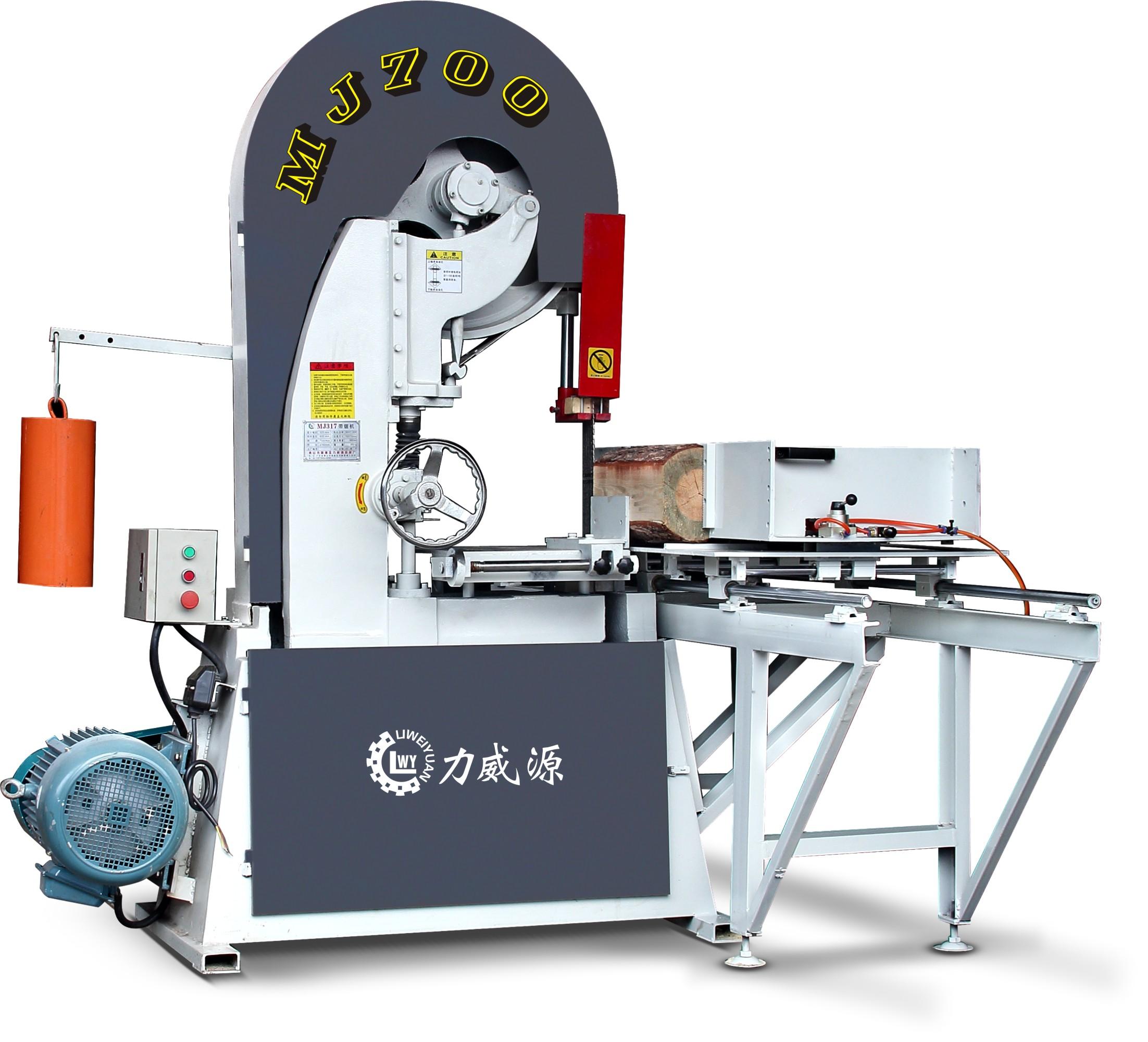 圆木推台锯 佛山力威源木工机械 MJ700木工带锯机套装