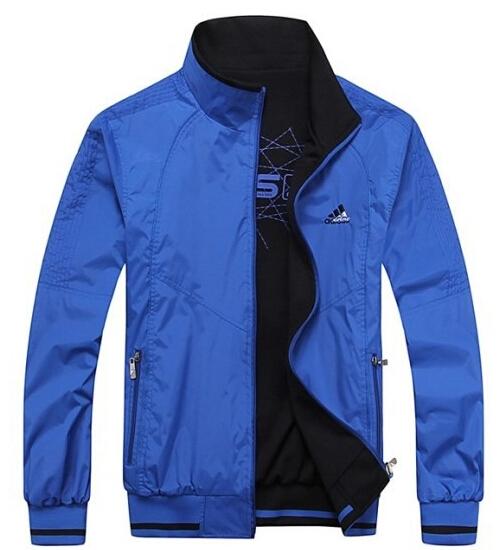 厂家供应2014秋冬季新款男式运动休闲双面穿夹克外套 男单衣批发 举报