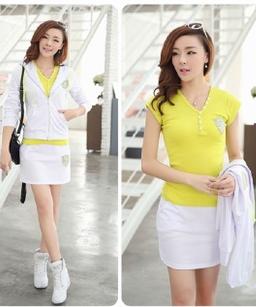 新款韩版长袖 休闲运动服套装