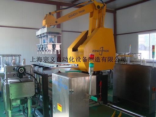 上海宗义 ZYZX-120R 5L食用油 机器人装箱机 自动装箱机