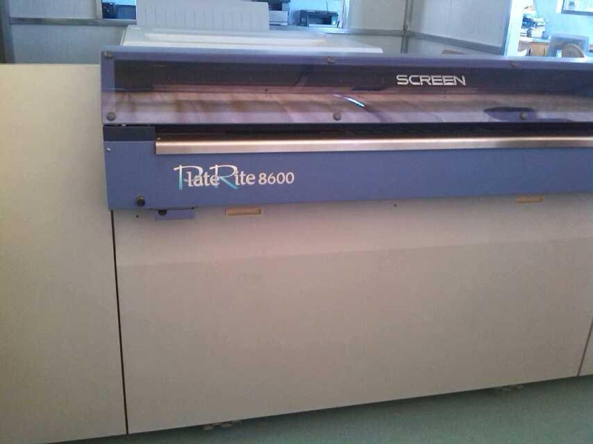 网屏8600CTP日本原装进口九五新同样适用于东丽无水印刷CTP版