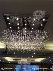 酒店餐厅现代吊线水晶灯 深圳酒店工程灯具