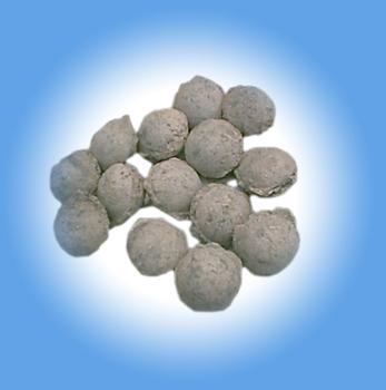 使钢水无污染的合成铝渣球