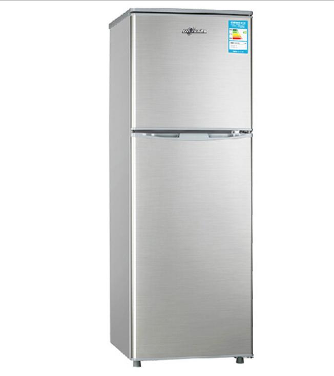 浙江大家电厂家供应小型家用不锈钢环保节能双开门电冰箱特价批发