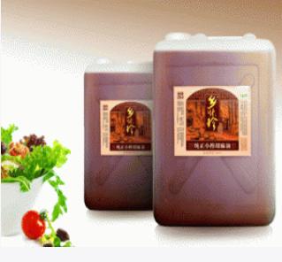 乡味珍低温冷榨25公斤装纯正小榨胡麻油 来自祁连山高海拔地区