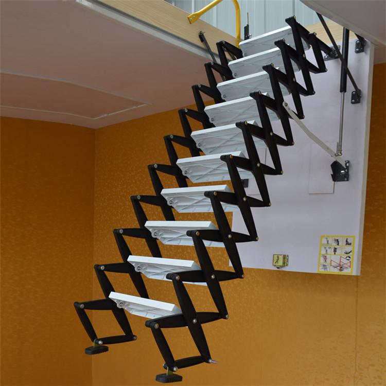 加厚钛镁合金阁楼升降梯伸缩楼梯家用阁楼楼梯阁楼升降楼梯图片