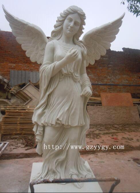 欧式砂岩人物雕塑 砂岩小天使雕塑价格 人造石小天使雕塑定做摆件