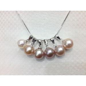 供應 批發珍珠吊墜 8-8.5圓 純銀配件珍珠吊墜