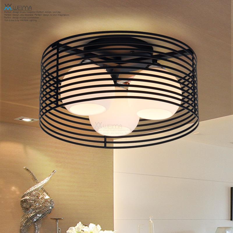维玛 圆形卧室灯铁艺现代简约厨房餐厅吸顶灯创意温馨led书房灯具