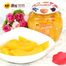 KF/康发 新鲜水果罐头 黄桃罐头227g  一箱12瓶
