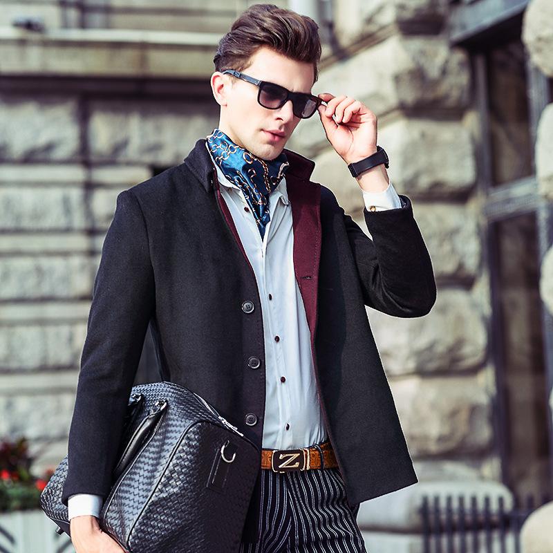 中國網庫 服裝 男裝 男式風衣,大衣 一件代發秋冬季新款中青年男士圖片