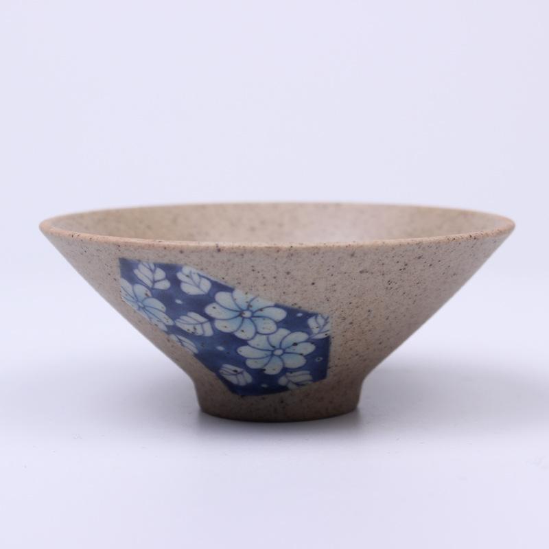 陶瓷茶具布艺斗笠杯 德化粗陶主人杯厂家茶具套装单杯可混批