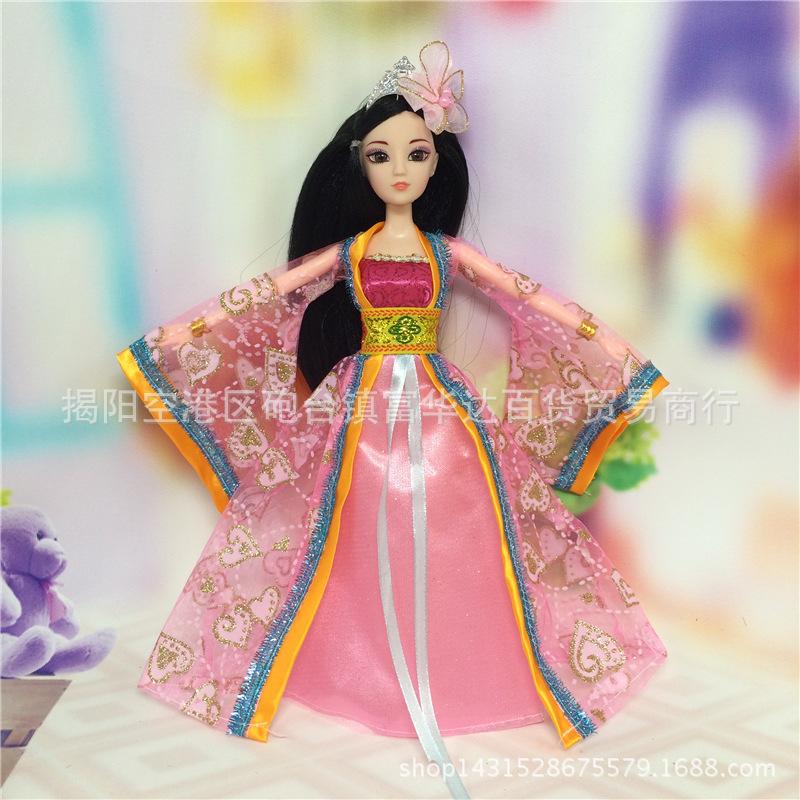 古装公主芭比娃娃玩具古代衣服礼服可穿关节身体套装