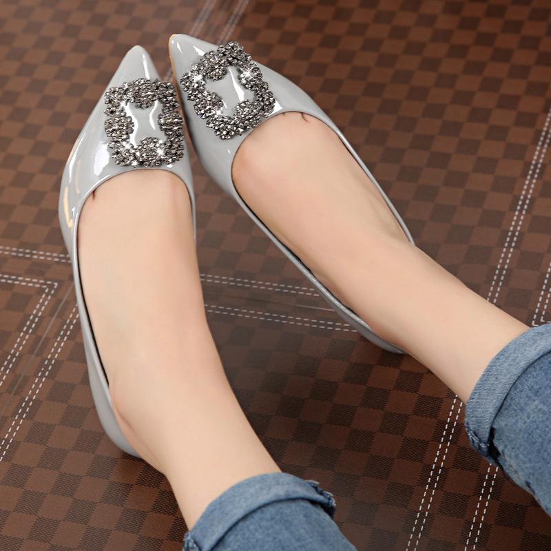 2015秋季新款性感时尚浅口女士单鞋镶钻婚鞋尖头细跟高跟鞋女鞋