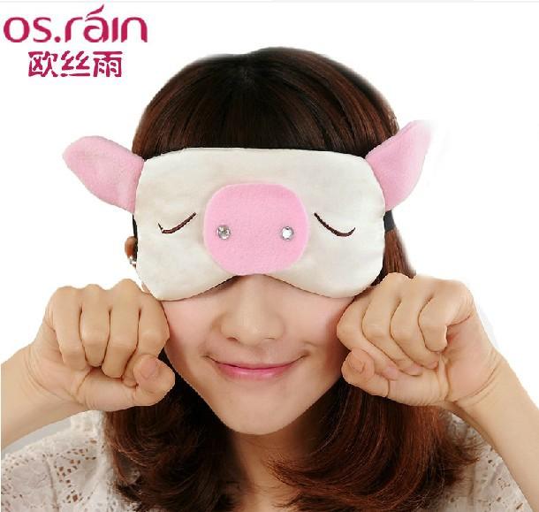 欧丝雨 100%桑蚕丝舒适护眼无痕 双面真丝眼罩睡眠 睡觉遮光 可爱1