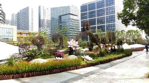 上海园林环境小品