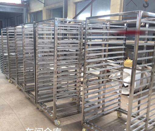济南不锈钢面包架车-面包烤盘架车销售厂家