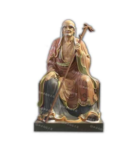 十八罗汉坐像生漆脱胎佛像