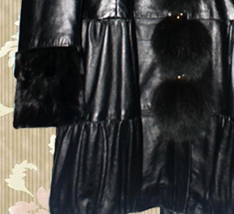 厂家直销韩版女式皮衣 高档真皮 毛领保暖 皮外套 批发供应