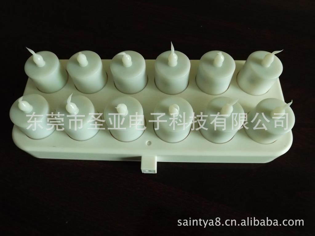 东莞圣亚电子厂直销灯光可调的无线充电led塑胶电子蜡烛