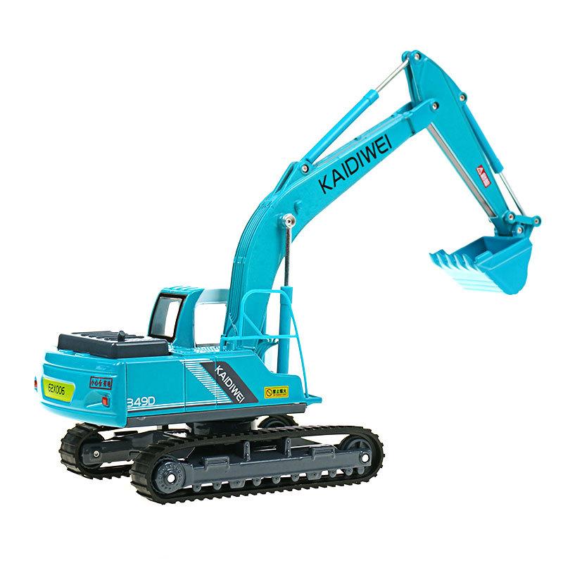 凯迪威合金工程车1:40 履带挖掘机铲车汽车儿童仿真模型声光玩具图片