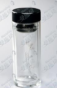 双层保温玻璃杯YZ-08