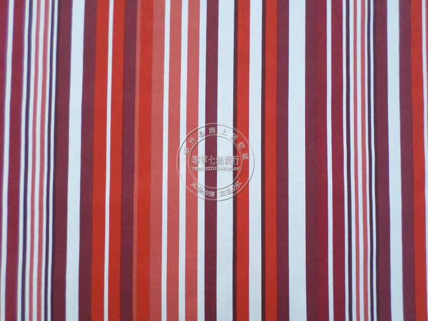 家居装饰布料 全棉印花帆布 彩色直条纹窗帘沙发抱枕布料 箱包布