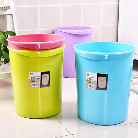 家用塑料垃圾桶创意纸篓室内厨房卫生垃圾桶欧式图片